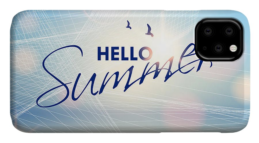 Flare IPhone Case featuring the digital art Summer Beach-vector Background by Alessandram