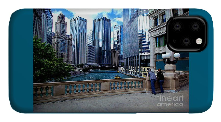 Midwest IPhone Case featuring the photograph Summer Breeze On The Chicago River - Color by Frank J Casella