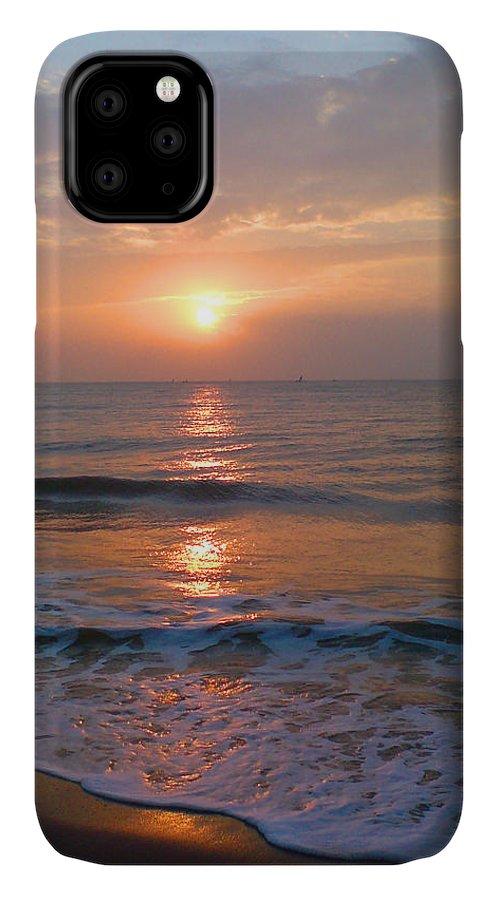 Sunrise Reflection On Ocean IPhone Case featuring the photograph Sunrise Reflection On Ocean by Venkatesh B