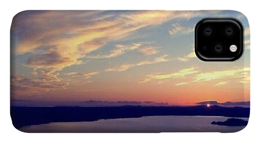 Me IPhone 11 Case featuring the photograph Sunset At Bolsena Lake by Emanuela Carratoni
