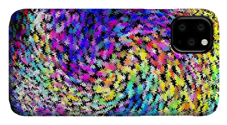 Swarming Honey Bees IPhone Case featuring the digital art Swarming Honey Bees by Will Borden