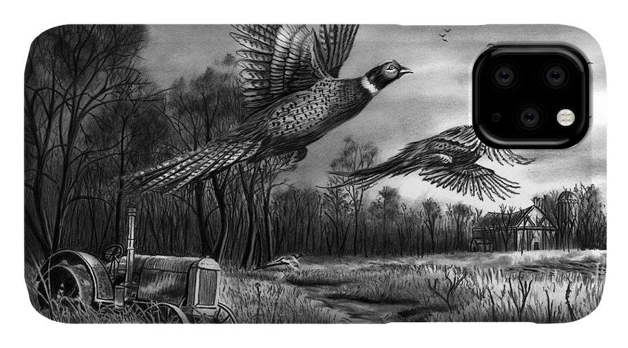 Taking Flight IPhone Case featuring the drawing Taking Flight by Peter Piatt