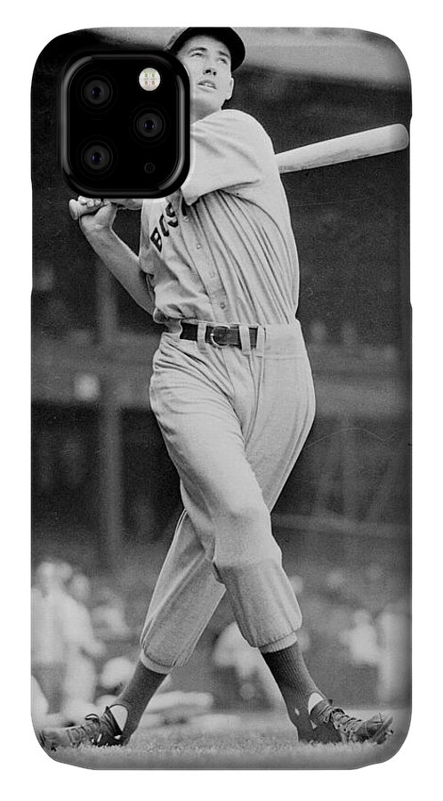 Ted IPhone 11 Case featuring the photograph Ted Williams Swing by Gianfranco Weiss