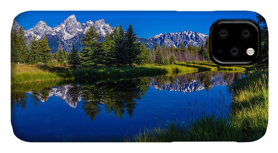Teton Reflection IPhone Case featuring the photograph Teton Reflection by Chad Dutson