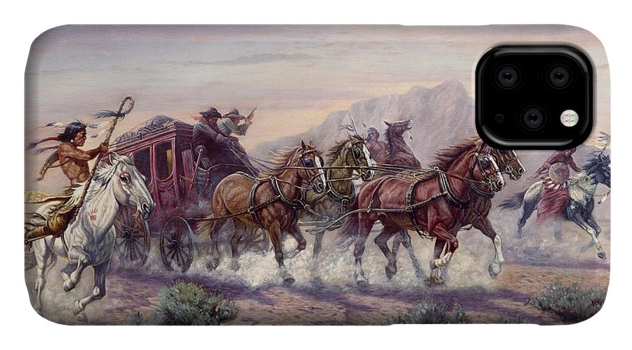 Gregory Perillo IPhone Case featuring the painting The Attack by Gregory Perillo