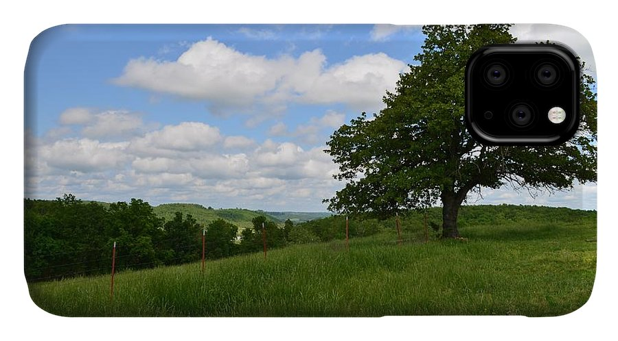 Bergman Arkansas IPhone Case featuring the photograph The Back Field by Laureen Murtha Menzl