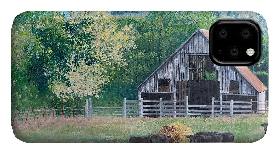 Pastoral Scene. The Barn IPhone Case featuring the painting The Barn by Alicia Fowler