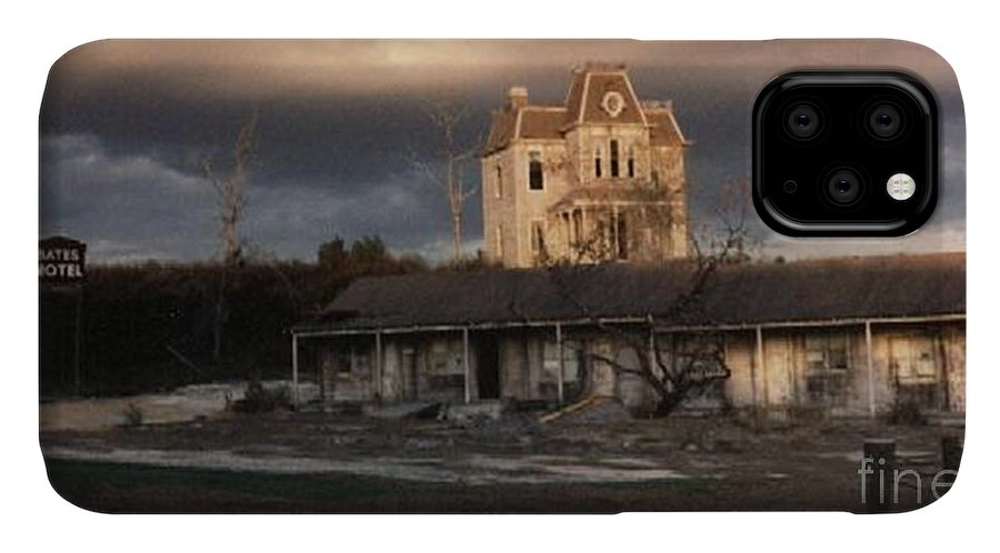 Photograph IPhone Case featuring the photograph The Bates Motel At Universal Studios Florida by Marian Bell