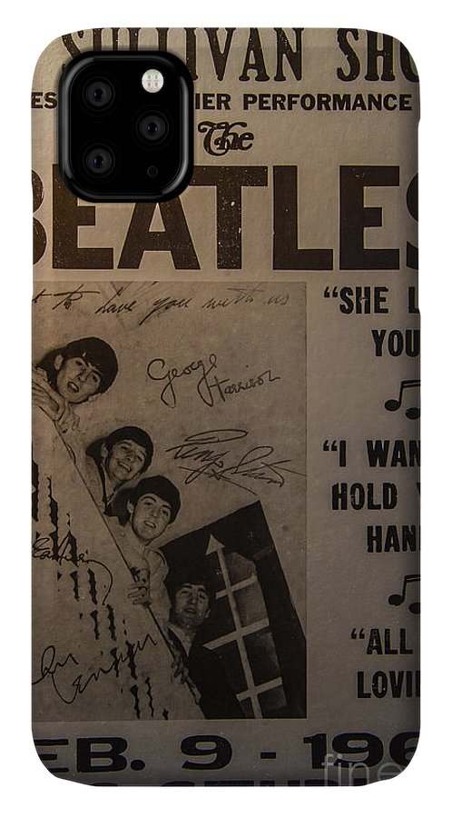 The Beatles Ed Sullivan Show Poster IPhone Case featuring the photograph The Beatles Ed Sullivan Show Poster by Mitch Shindelbower
