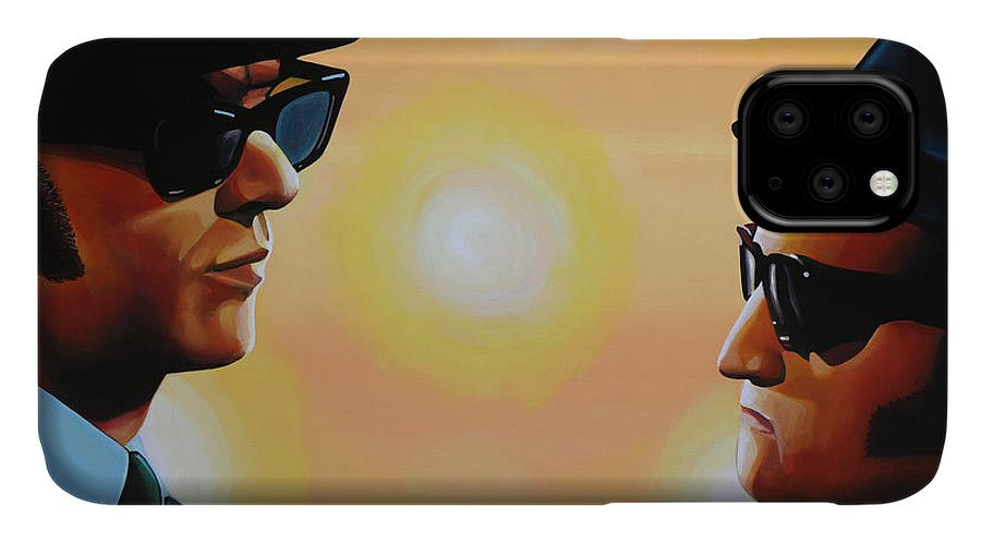The Blues Brothers IPhone Case featuring the painting The Blues Brothers by Paul Meijering