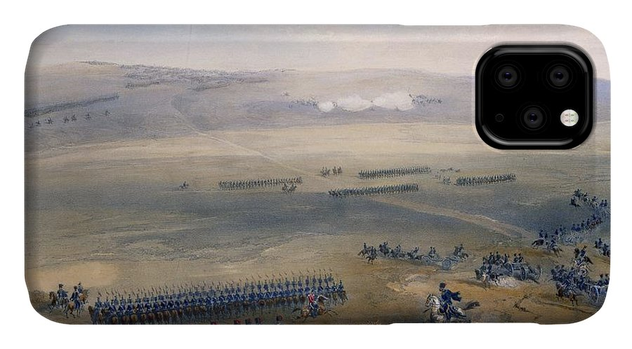 Landscape IPhone Case featuring the drawing The Cavalry Affair Of The Heights by William 'Crimea' Simpson
