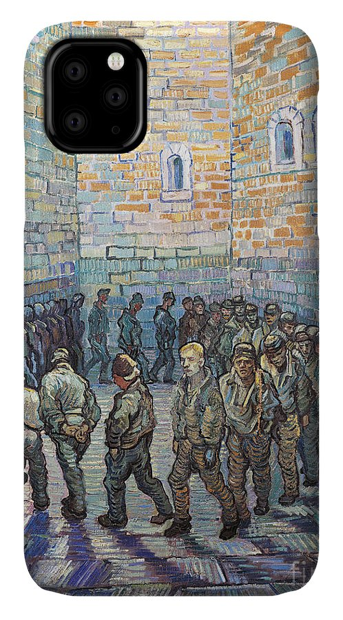 Prisoner IPhone Case featuring the painting The Exercise Yard by Vincent Van Gogh