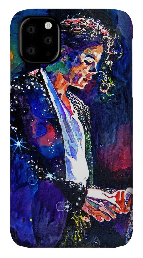 Michael Jackson IPhone Case featuring the painting The Final Performance - Michael Jackson by David Lloyd Glover