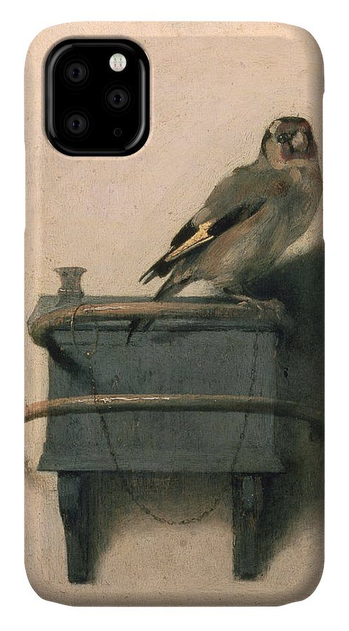 Bird IPhone Case featuring the painting The Goldfinch by Carel Fabritius