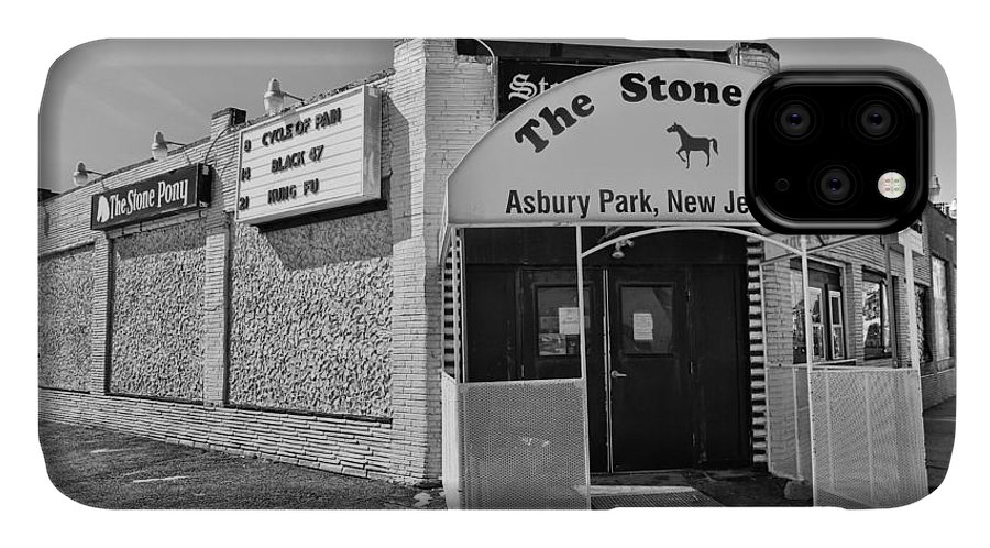 Clarence Clemons IPhone Case featuring the photograph The House that Bruce Built II - The Stone Pony by Lee Dos Santos