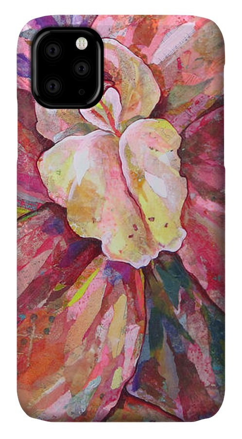 Orchid IPhone Case featuring the painting The Orchid by Shadia Derbyshire