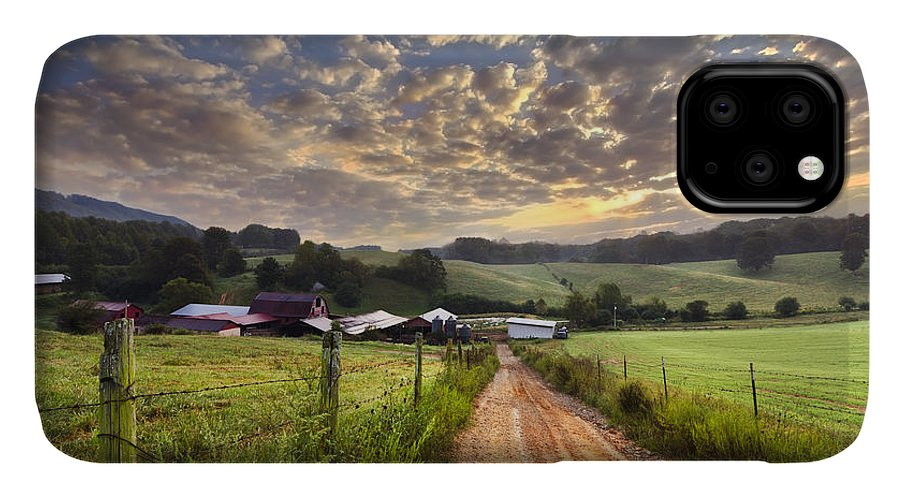 Appalachia IPhone Case featuring the photograph The Old Farm Lane by Debra and Dave Vanderlaan
