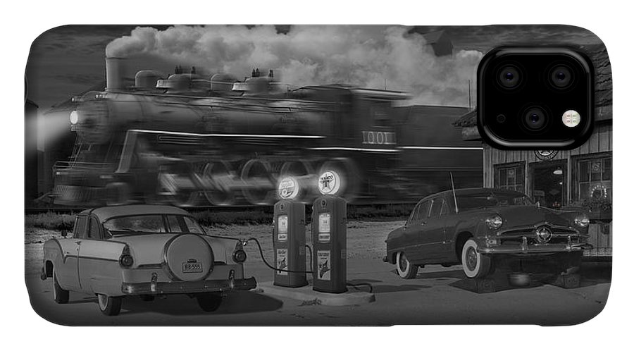 Transportation IPhone 11 Case featuring the photograph The Pumps - Panoramic by Mike McGlothlen