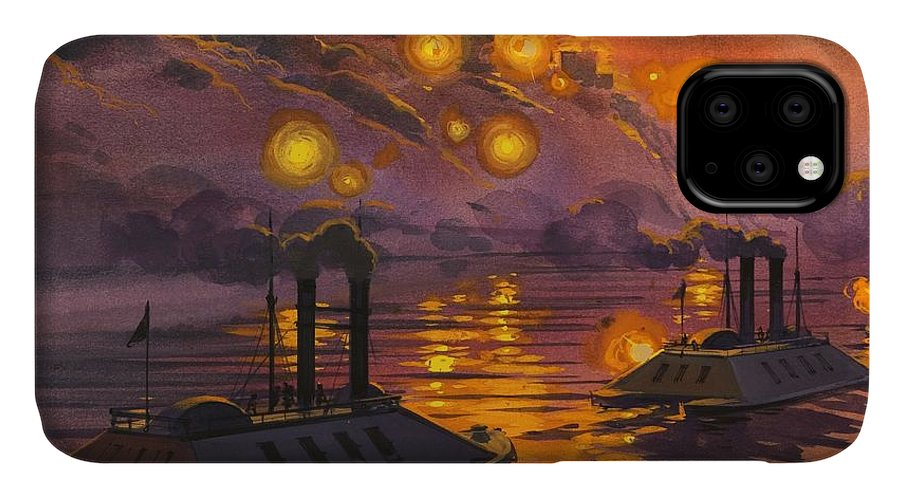 America IPhone Case featuring the drawing The Siege Of Vicksburg by Angus McBride