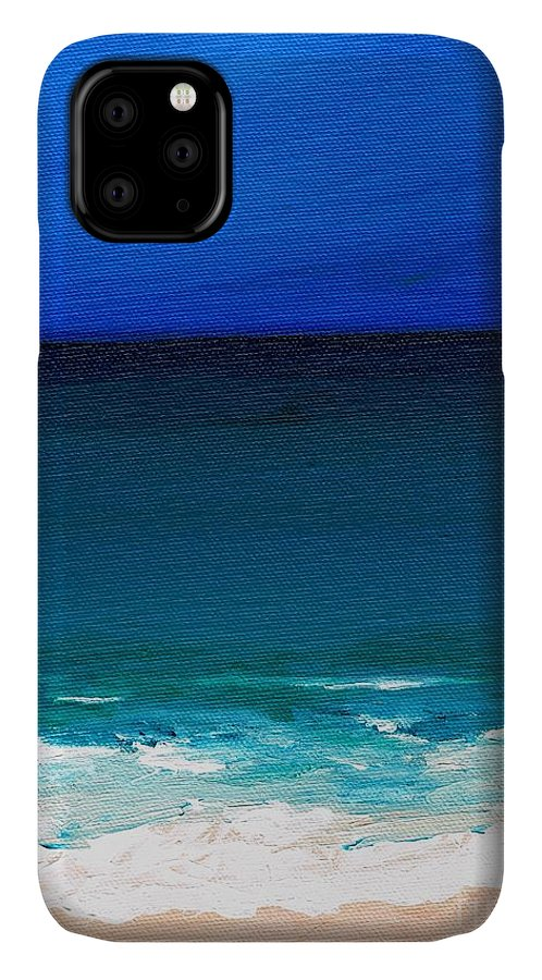 Seashore IPhone Case featuring the painting The Tide Coming In by Frances Marino