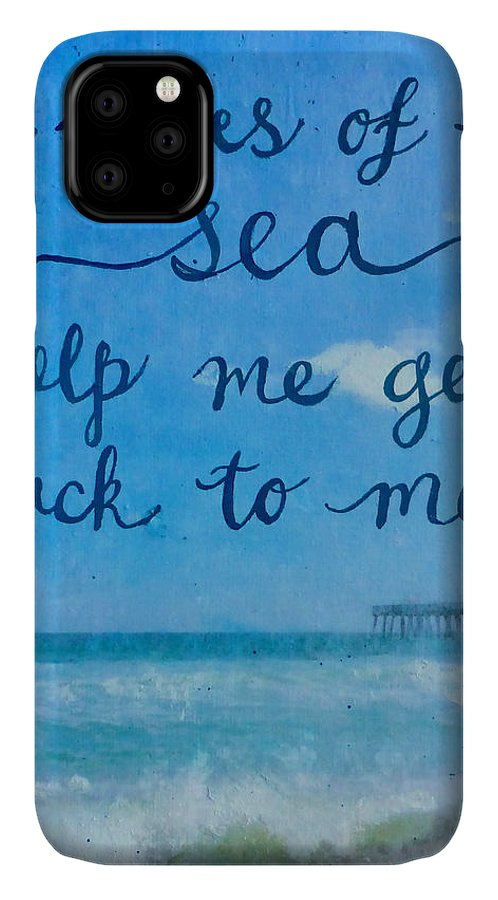The Waves Of The Sea IPhone Case featuring the mixed media The Waves Of The Sea by Michelle Eshleman
