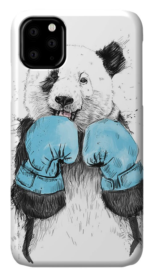 Panda IPhone Case featuring the digital art The Winner by Balazs Solti