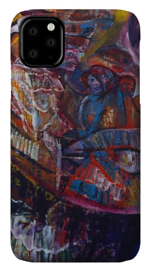 African Women IPhone Case featuring the painting Tikor Woman by Peggy Blood
