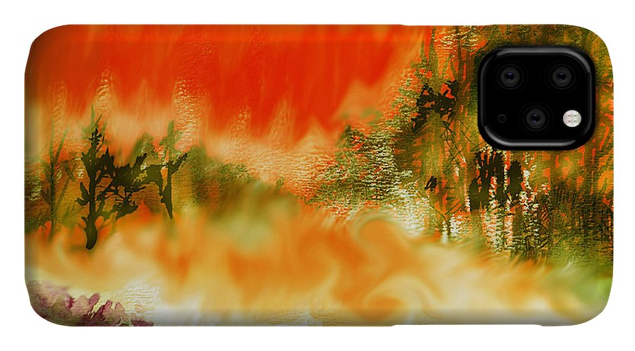 Timber Blaze IPhone Case featuring the mixed media Timber Blaze by Seth Weaver