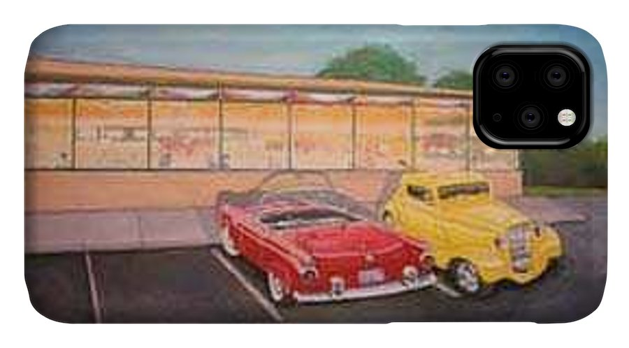 Rick Huotari IPhone Case featuring the painting Times Past Diner by Rick Huotari