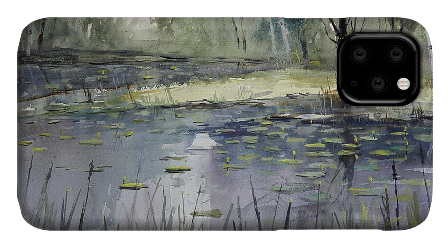 Landscape IPhone Case featuring the painting Tranquillity by Ryan Radke