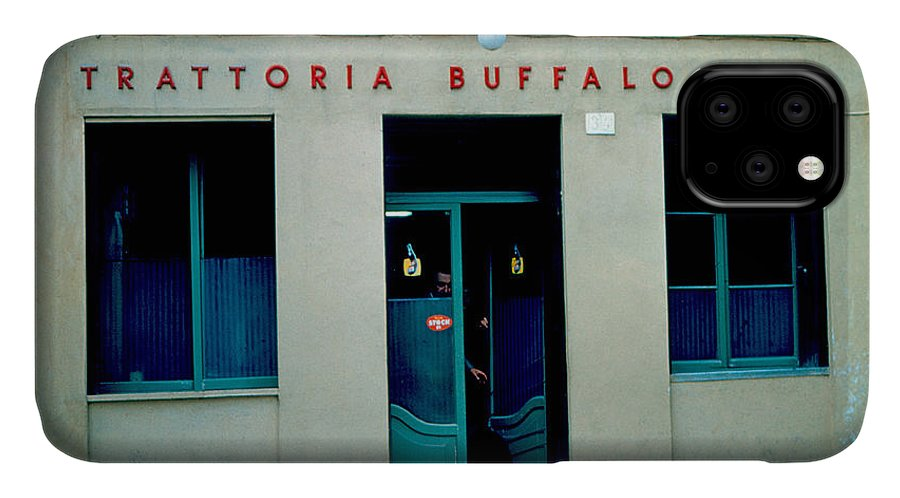 Vicenza IPhone Case featuring the photograph Trattoria Buffalo Bill 1962 by Cumberland Warden