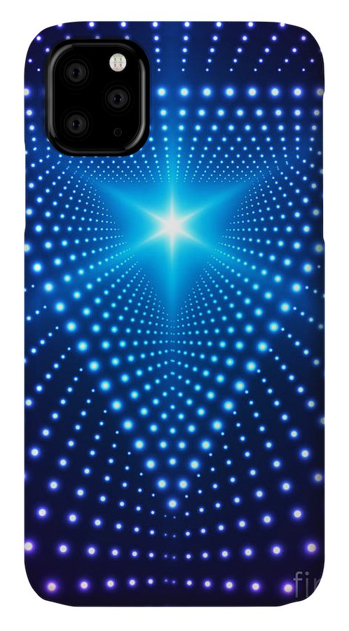 Flare IPhone Case featuring the digital art Triangle Border With Light Effects by Skillup
