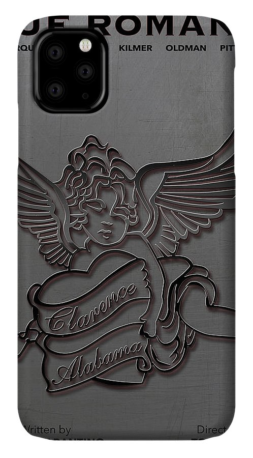 Geek IPhone Case featuring the digital art True Romance Movie Poster by Finlay McNevin