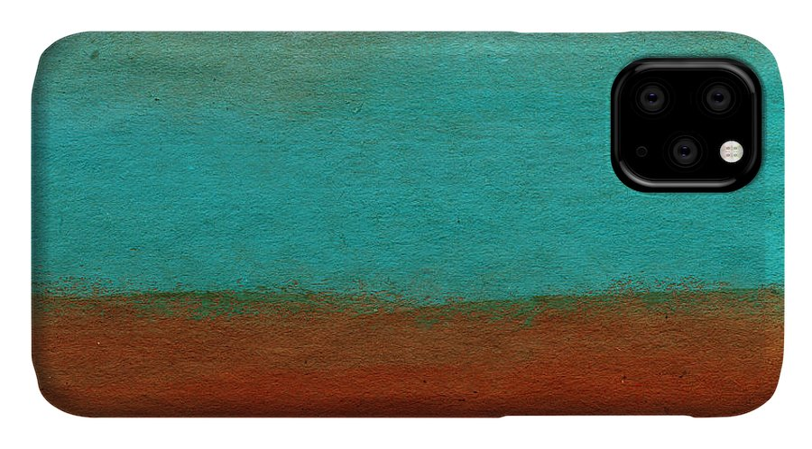 Abstract Landscape IPhone 11 Case featuring the painting Tuscan by Linda Woods