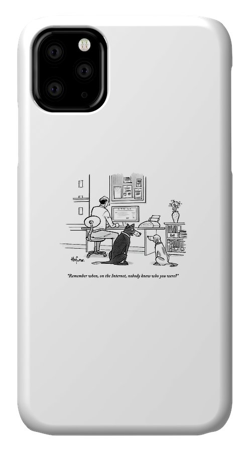 Two Dogs Speak As Their Owner Uses The Computer - IPhone Case