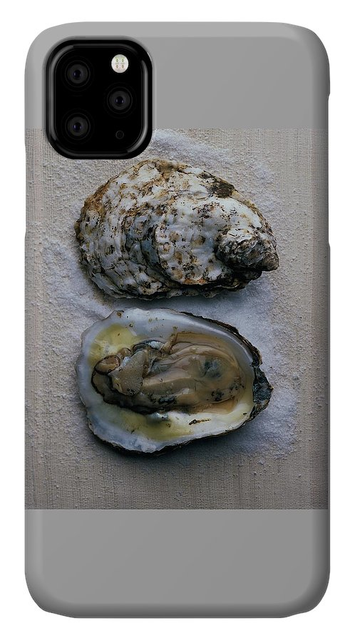 Cooking IPhone Case featuring the photograph Two Oysters by Romulo Yanes