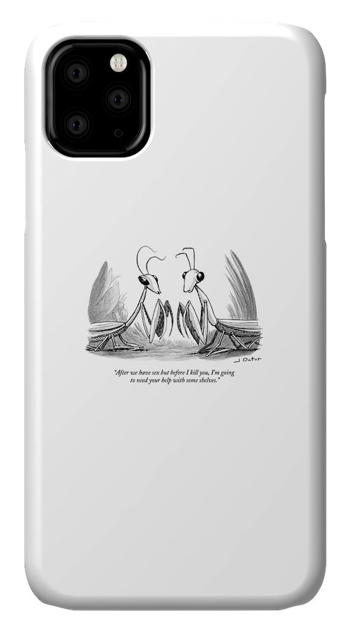 Two Praying Mantises Facing Each Other IPhone Case