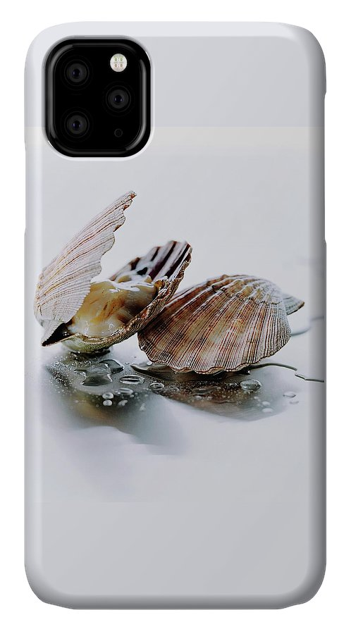 Cooking IPhone Case featuring the photograph Two Scallops by Romulo Yanes