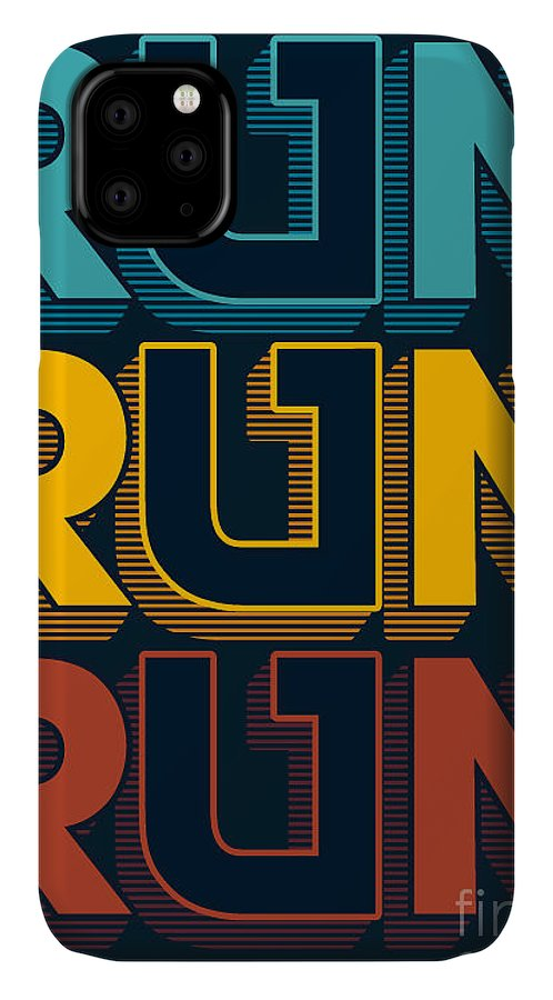 Typography IPhone 11 Case featuring the digital art Typography, T-shirt Graphic, Vectors by Braingraph
