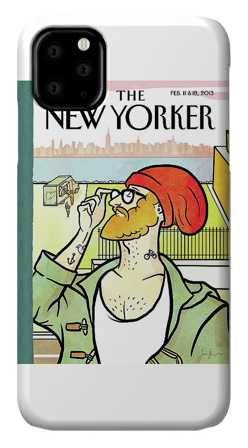 Brooklyn's Eustace IPhone Case featuring the painting Brooklyn's Eustace by Simon Greiner