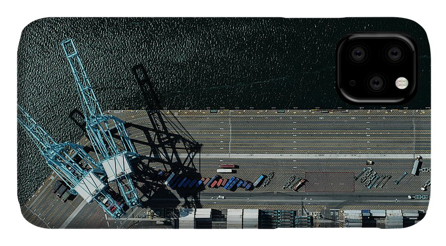 Industrial District IPhone 11 Case featuring the photograph Urban Landscape With River And Industry by Michael H