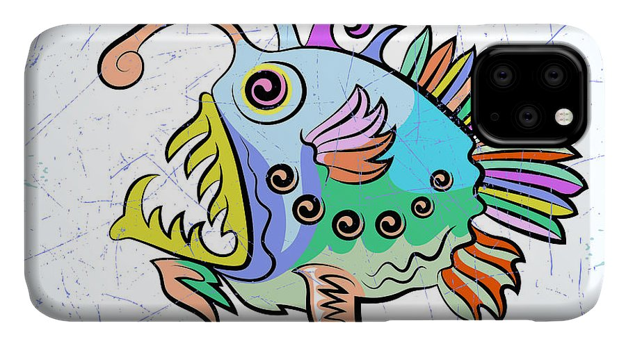 Symbol IPhone 11 Case featuring the digital art Vector Drawing Of The Abstract Stylized by Farferros