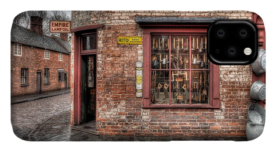 British IPhone 11 Case featuring the photograph Victorian Corner Shop by Adrian Evans
