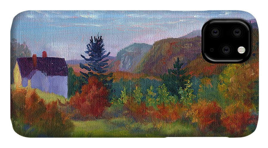 Cathedral Ledge IPhone Case featuring the painting View From Thorn Hill Road by Sharon E Allen