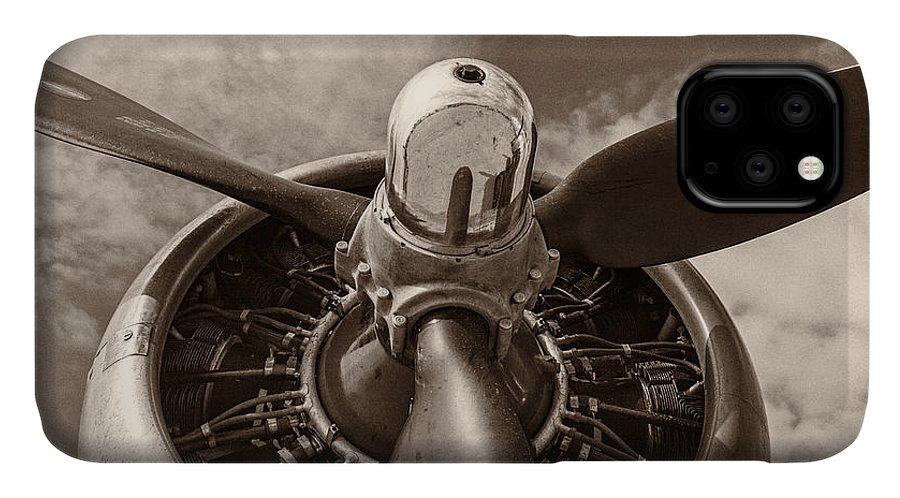 3scape IPhone 11 Case featuring the photograph Vintage B-17 by Adam Romanowicz