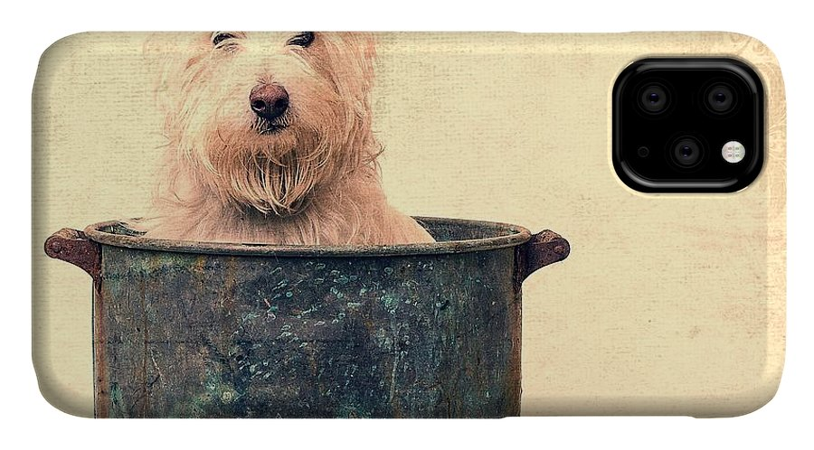 Dog IPhone Case featuring the photograph Vintage Bathtime by Edward Fielding