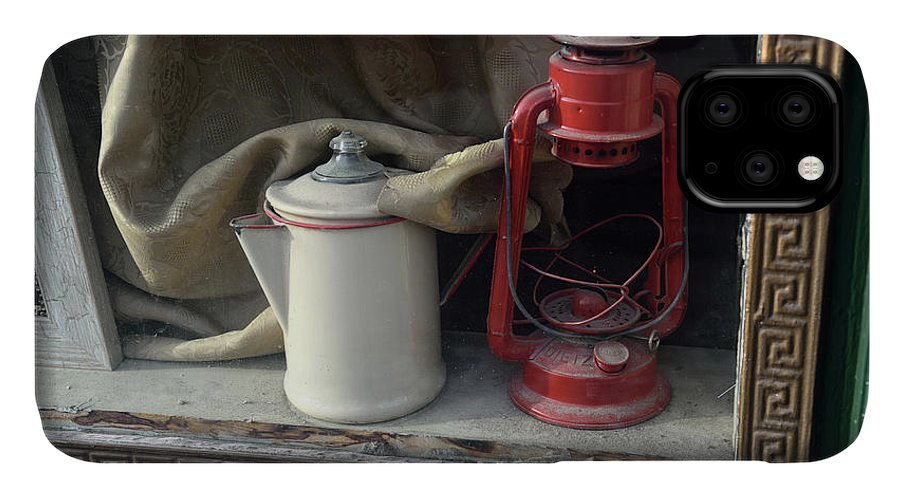 Tranquility IPhone 11 Case featuring the photograph Vintage Kerosene Lamp And Vintage by Feifei Cui-paoluzzo