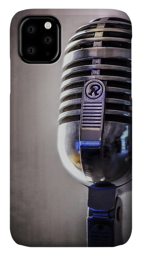 Mic IPhone Case featuring the photograph Vintage Microphone 2 by Scott Norris