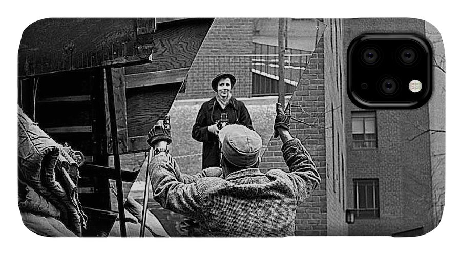 Vivian Maier Self Portrait Probably Taken In Chicago Illinois 1955 IPhone Case featuring the photograph Vivian Maier Self Portrait Probably Taken In Chicago Illinois 1955 by David Lee Guss