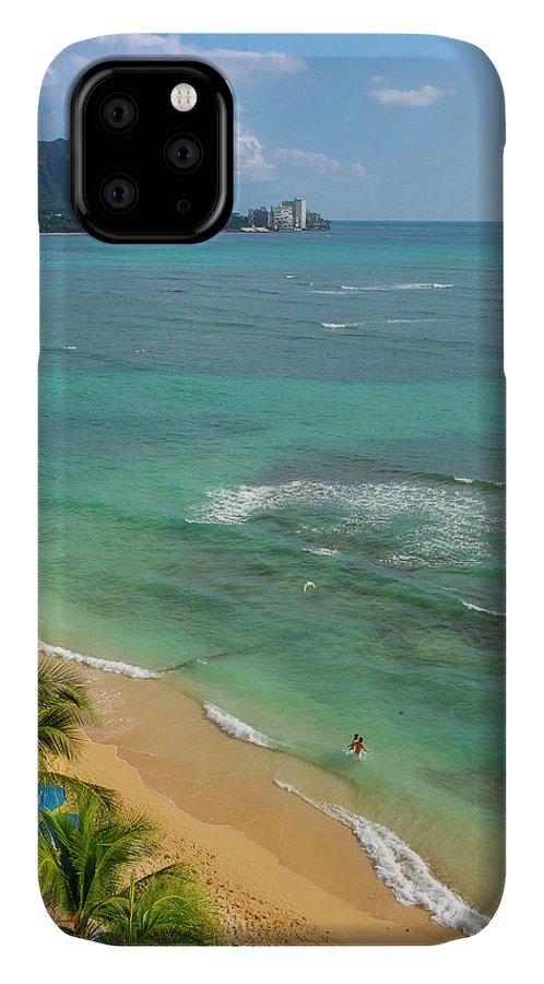 Danita Delimont IPhone Case featuring the photograph Waikiki Beach, Oahu, Hawaii by Douglas Peebles